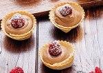 Tartaletas de Crema pastelera de Chocolate y Frambuesas